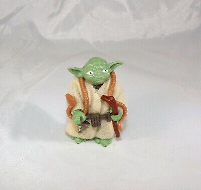 Vintage Star Wars Dark Skin Pac Man Eyes Brown Snake Yoda Figure C-9.5+ COMPLETE
