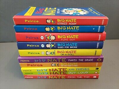 Lot of 10~BIG NATE Lincoln Peirce~On a Roll Strikes again Flips Out Goes For Bro