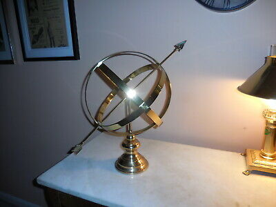 """EXC ! VINTAGE NAUTICAL SPHERE BRASS ARMILLARY 18"""" by DECOR CRAFTS INC HOME GLOBE"""