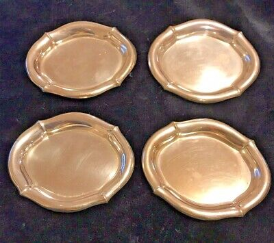 Sterling Silver Butter Pats Set Of 4 By R+B Co