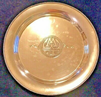 """Sterling Silver Plate Monogrammed """"MWJ"""""""