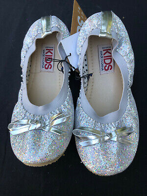 Brand New Cotton On Kids Size 1 Silver Ballet Flats