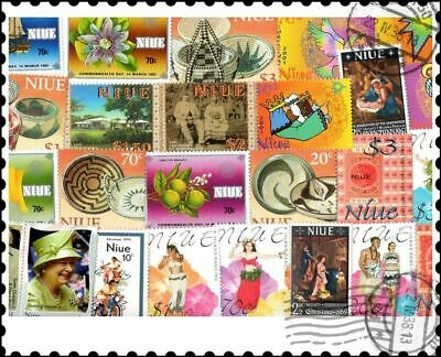Niue : 25 Different Stamps Collection
