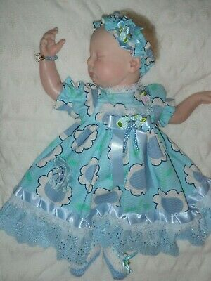 Craftymals  Sweet 5  Piece  Dress Set For Reborn Dolls  19 - 22  Inches