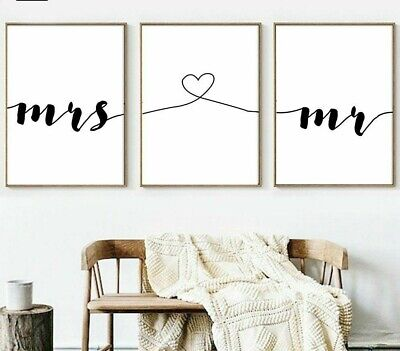 Home Canvas Posters Wall Art Living Room Decor Unframed Couple Print Paintings