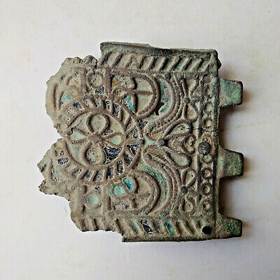 Ancient Byzantine Enameled Belt Buckle 1000-1200 AD