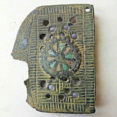 Ancient Byzantine Belt Buckle w/Enamel 1000-1200 AD