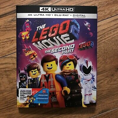 """The LEGO Movie 2: The Second Part (4K Ultra HD + Blu-ray + Digital, 2019) """"NEW"""""""