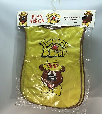 Vintage 1980s Humphrey B Bear Plastic Play Apron - New in Packaging
