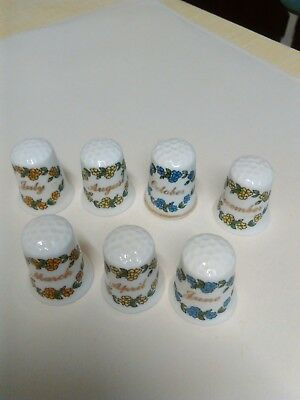 7  China Thimbles - Months of the Year - See Description & Photo for Which