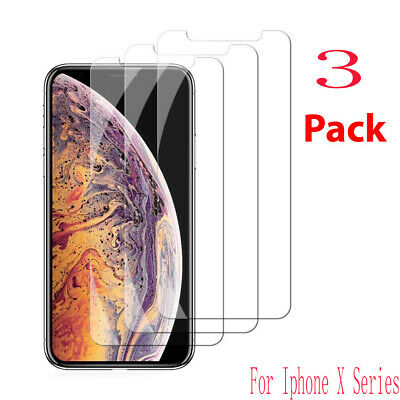 3PCS For Apple iPhone 6  X XS XR MAX Tempered Glass Screen Protector Clear Cover