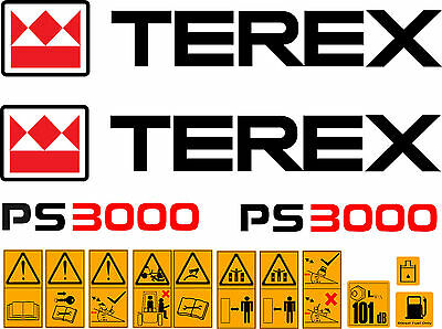 Terex PS3000 Benne Stickers