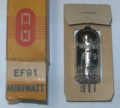 EF91 electronic tube (equivalent  Z77 = 6F12 = 8D3 = 6AM6 = N79= CV138) Philips
