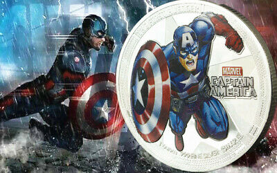 1 x MARVEL CAPTAIN AMERICA SUPER HERO AVENGER INFINITY WAR END GAME COIN 2019