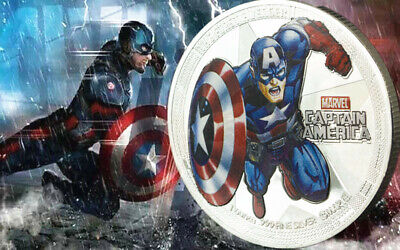 1 x MARVEL CAPTAIN AMERICA THE FIRST AVENGER SUPER HERO NOVELTY COIN MEDAL UK