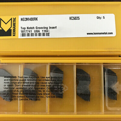 NEW KENNAMETAL NG4250RK KC5025 AlTiN TOP NOTCH GROOVING INSERTS