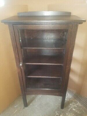CHARLES LIMBERT CHINA CABINET Mission Oak Arts & Crafts Stickley Era