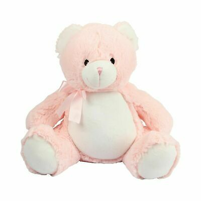 Mumbles Zippies Pink Teddy Bear Soft Plush Toy Customisable Embroidable BNWT New