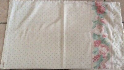 Vintage retro bedding, marks and Spencer double sheet, and 3 pillowcases used