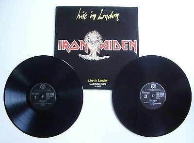 IRON MAIDEN LIVE IN LONDON 2LP Marquee club 19.12.85 double vinyls rare