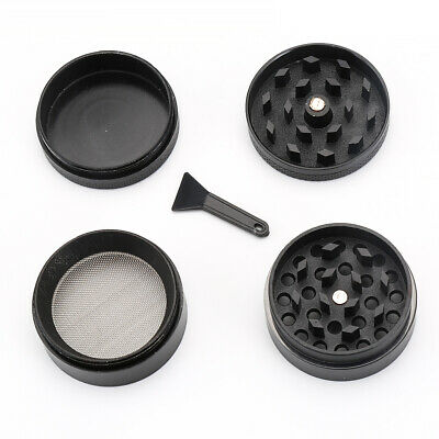 4 Layers Metal Tobacco Crusher Smoke Herbal Herb Grinder Hand Muller Black Nice