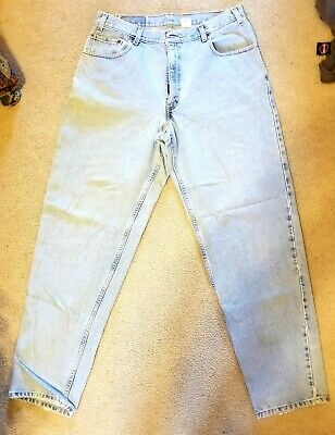 5539e029 Levis 560 Men's Denim Light Blue Jeans Straight Leg Loose Fit 36X34