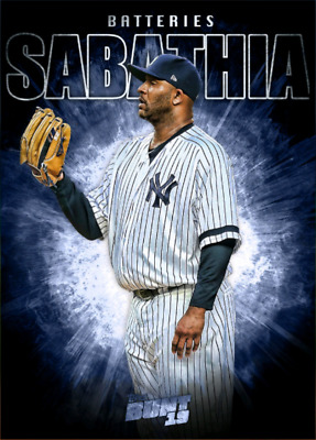 2019 BATTERIES MARATHON CC SABATHIA/ GARY SANCHEZ Topps Bunt Digital Card