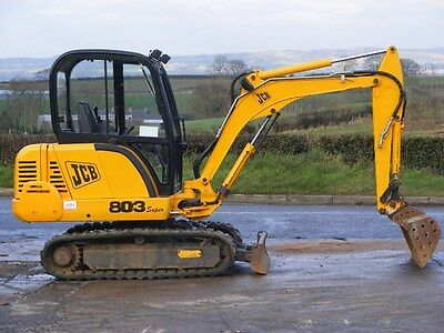 Jcb 803 Plus / Super Mini Digger Complete Decal Set With Safty Warning