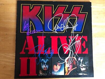 Kiss Alive II signed autograph Full Band Gene Simmons Paul Stanley Ace Frehley
