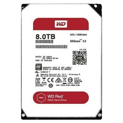 WD Red 8TB NAS Hard Disk Drive - 5400 RPM Class SATA 6 Gb/s 128MB Cache 3.5 Inch