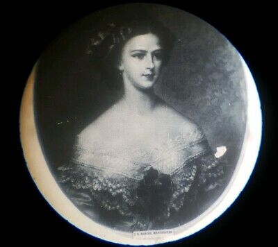 "Fine Antique  Microscope Microphotograph Slide ""Elizabeth Of Austria"" By Dancer"