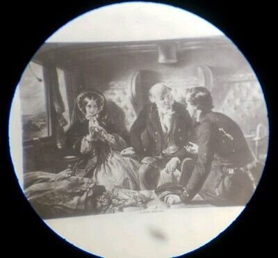 "Fine Antique  Microscope Microphotograph Slide ""Return First Class"" By Dancer"