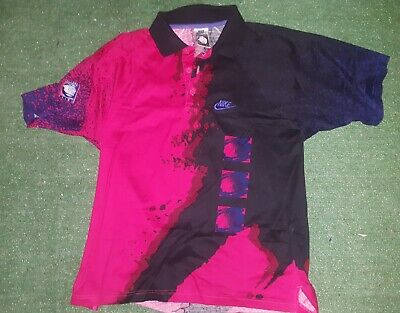 VINTAGE SHIRT POLO MAGLIA JERSEY NIKE CHALLENGE COURT AGASSI trikot maillot