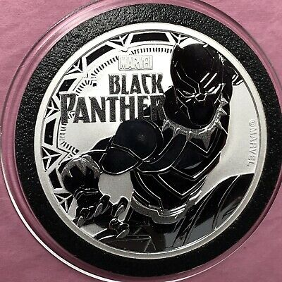 2018 Marvel Black Panther 1 Troy Oz .999 Fine Silver Round Proof Tuvalu Coin 999