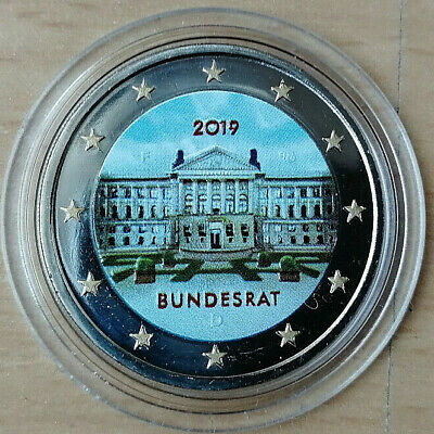 2 Euros Alemania 2019 Bundesrat en color.