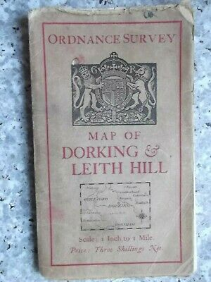 Ordnance Survey One-Inch Tourist map Dorking & Leith Hill.