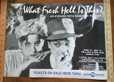 What Fresh Hell is This? - Vintage Broadway Poster - Detroit Show