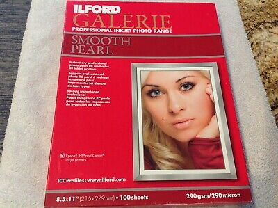 Ilford Galerie Professional Inkjet Photo Range Smooth Pearl Paper 65+ Sheets