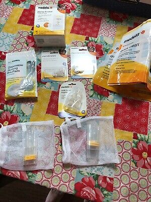 Large Lot of Medela Breast Pump Accessories