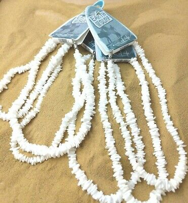 6 White Puka Shell Necklace Unisex Surf Holiday Beach Summer Jewellery PS1