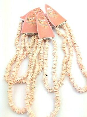 6 Coral Puka Shell Necklace Unisex Surf Holiday Beach Summer Jewellery PS3