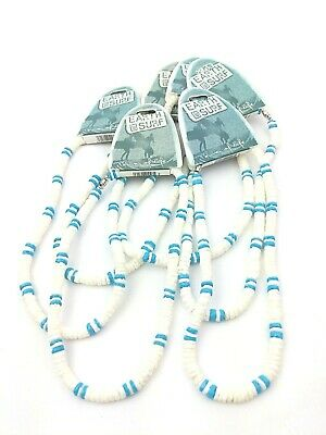 6 Turquoise & White Puka Shell Necklace Unisex Surf  Beach Summer Jewellery PS9