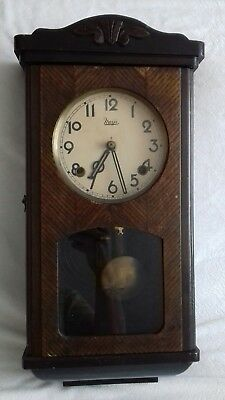 Antique Meiji Japan Wall Clock. Working & Chimes.