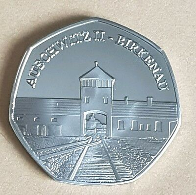 2019 Auschwitz Ii- Birkenau Commemorative Coin Album/50P Fifty Pence Collectors