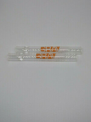 """4.5"""" Orange Glass One Hitter Chillum- Glass Pipe- Strong and Sturdy"""
