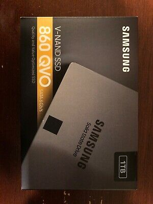 "Samsung 1TB 860 QVO SATA III 2.5"" Internal SSD Solid State Drive in Sealed Box"