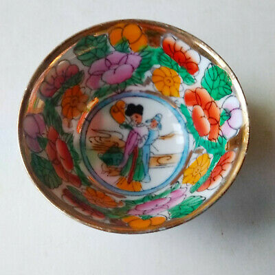 Vintage China Small Porcelain Cup Hand Painted w/Gilding