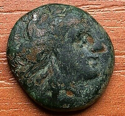 "Thrace, Lysimachia 309-220 BC AE19 ""Tyche & Lion"" Ancient Greek Bronze Coin"