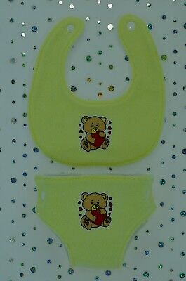 """Play n Wear Dolls Clothes For 17""""Baby Born~16""""Cabbage Patch BIB & REUSABLE NAPPY"""