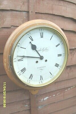 Wall  Clock Striking  On 2 Bell Fhs Movement Working  Pineapple Furniture